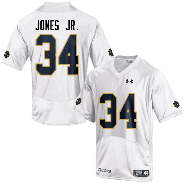 Men #34 Tony Jones Jr. Notre Dame Fighting Irish College Football Jerseys-White