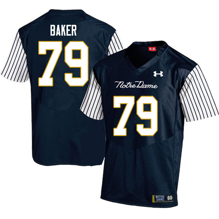 Men #79 Tosh Baker Notre Dame Fighting Irish College Football Jerseys Sale-Alternate