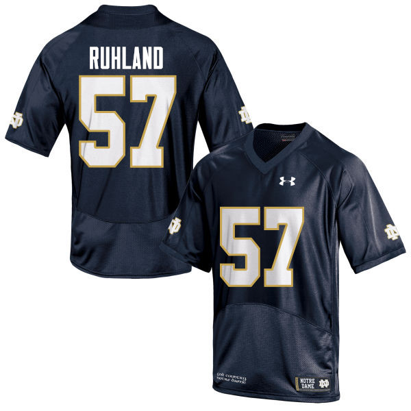 Men #57 Trevor Ruhland Notre Dame Fighting Irish College Football Jerseys-Navy Blue
