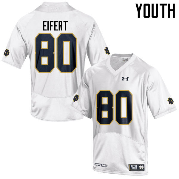 Youth #80 Tyler Eifert Notre Dame Fighting Irish College Football Jerseys-White