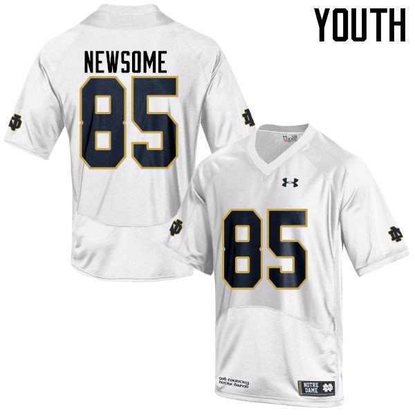 Youth #85 Tyler Newsome Notre Dame Fighting Irish College Football Jerseys-White