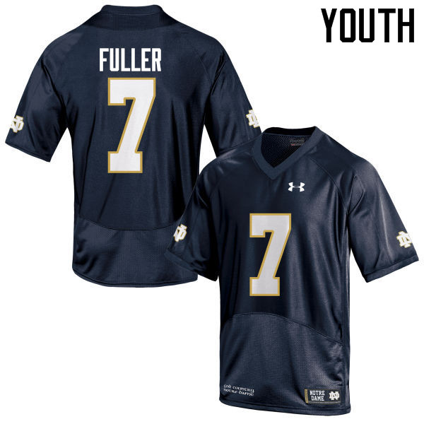 Youth #7 Will Fuller Notre Dame Fighting Irish College Football Jerseys-Navy Blue