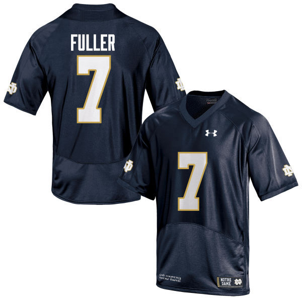 Men #7 Will Fuller Notre Dame Fighting Irish College Football Jerseys-Navy Blue