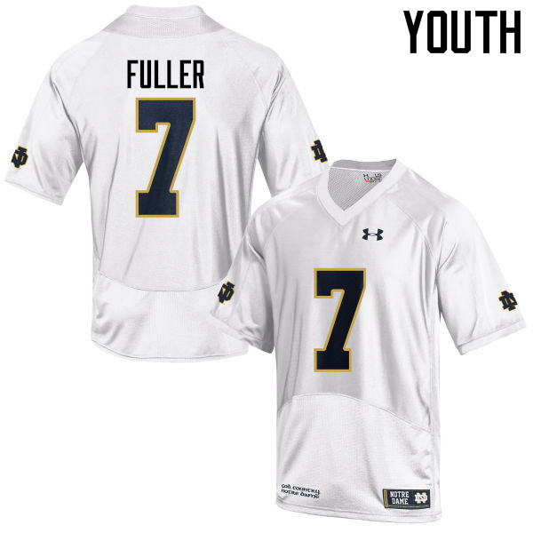 Youth #7 Will Fuller Notre Dame Fighting Irish College Football Jerseys-White