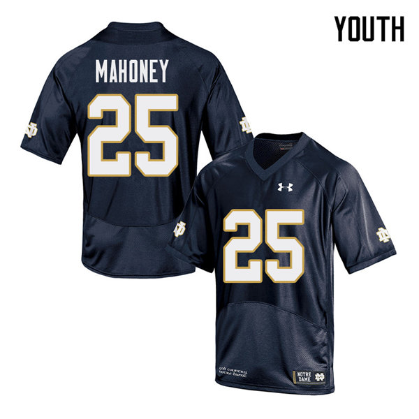 Youth #25 John Mahoney Notre Dame Fighting Irish College Football Jerseys Sale-Navy