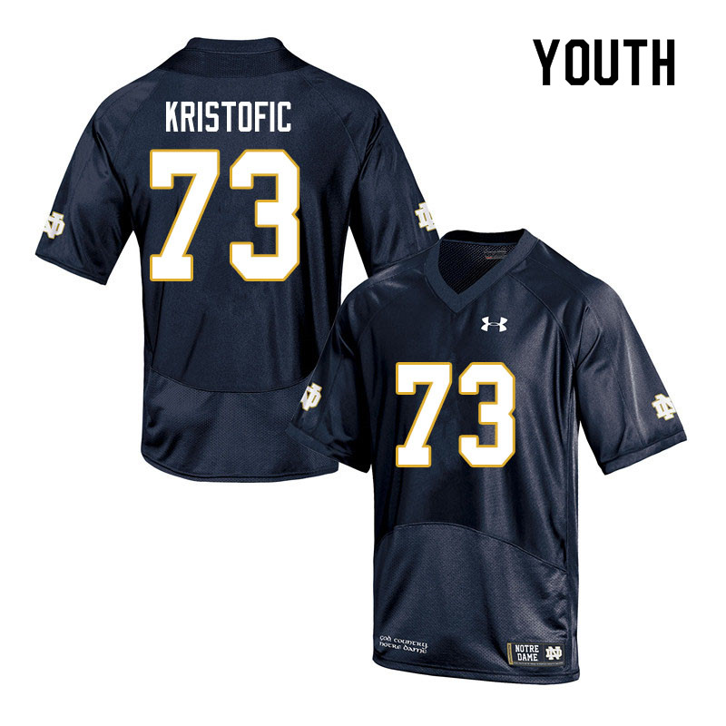 Youth #73 Andrew Kristofic Notre Dame Fighting Irish College Football Jerseys Sale-Navy