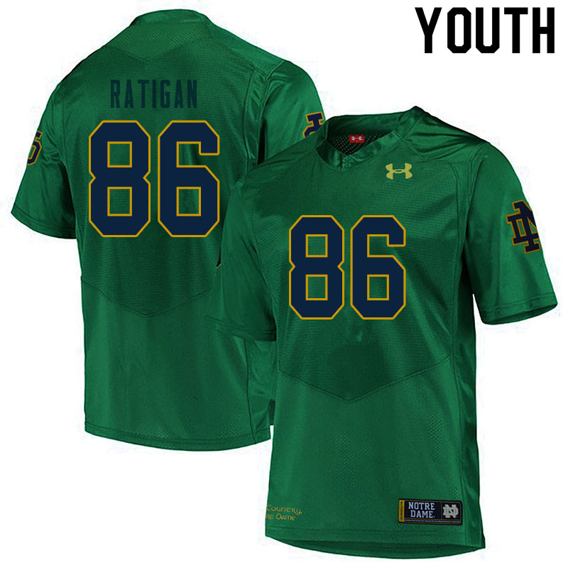 Youth #86 Conor Ratigan Notre Dame Fighting Irish College Football Jerseys Sale-Green