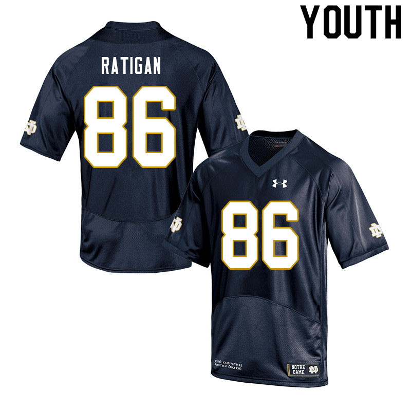 Youth #86 Conor Ratigan Notre Dame Fighting Irish College Football Jerseys Sale-Navy