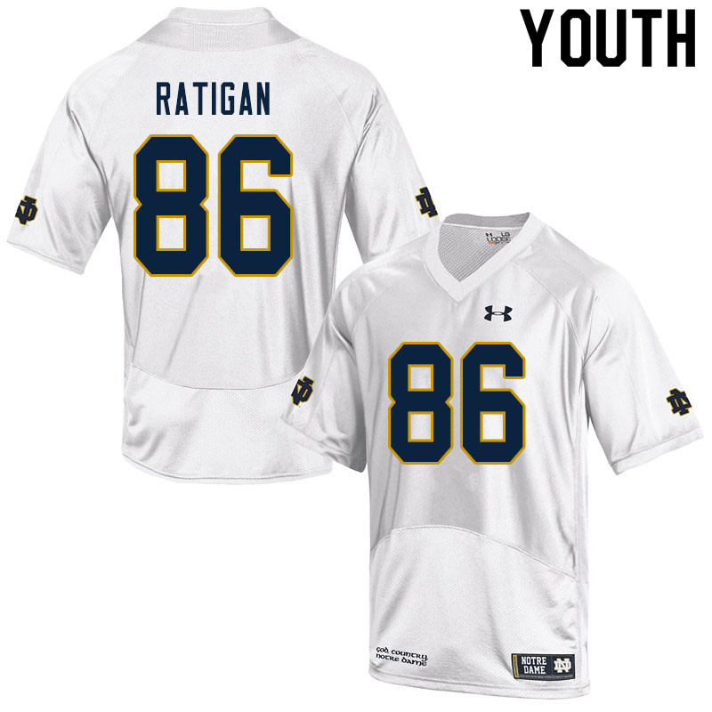 Youth #86 Conor Ratigan Notre Dame Fighting Irish College Football Jerseys Sale-White