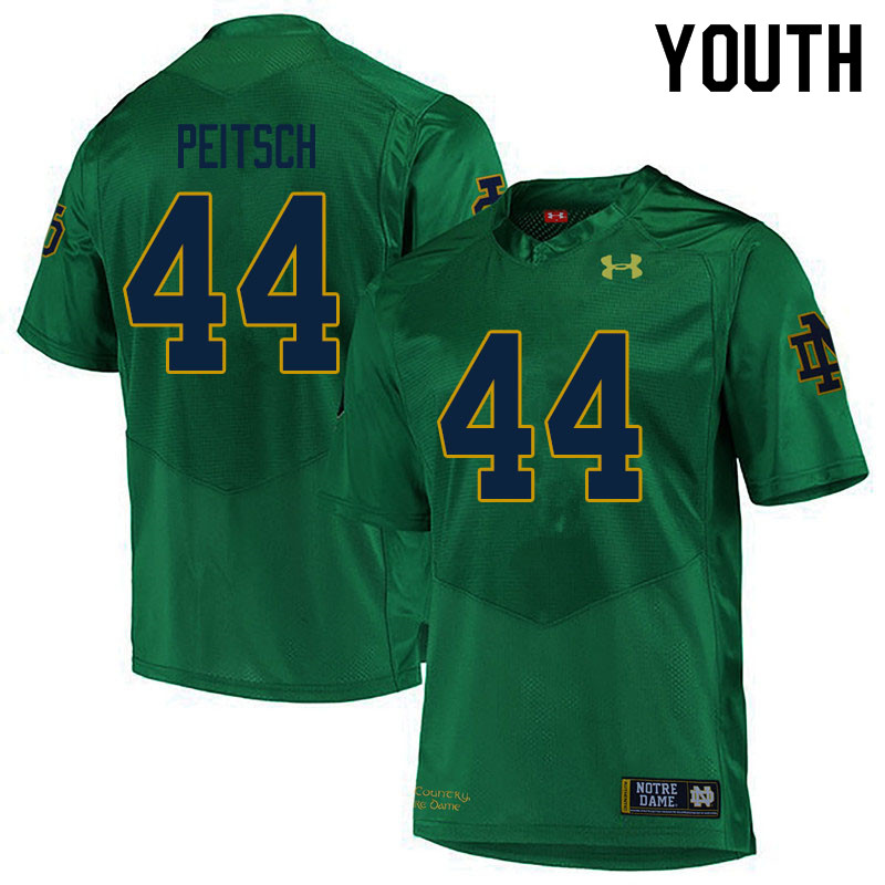 Youth #44 Alex Peitsch Notre Dame Fighting Irish College Football Jerseys Sale-Green