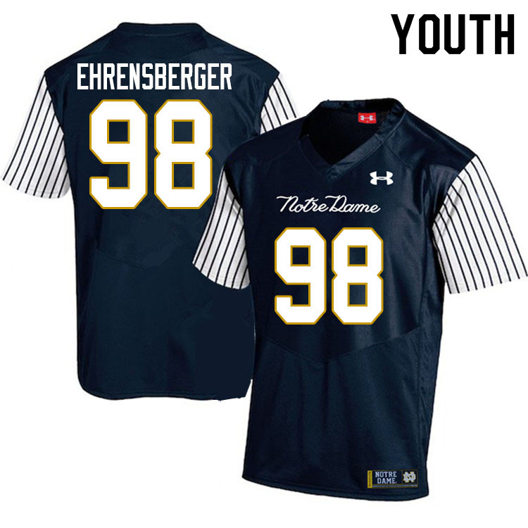 Youth #98 Alexander Ehrensberger Notre Dame Fighting Irish College Football Jerseys Sale-Alternate