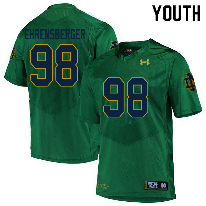 Youth #98 Alexander Ehrensberger Notre Dame Fighting Irish College Football Jerseys Sale-Green
