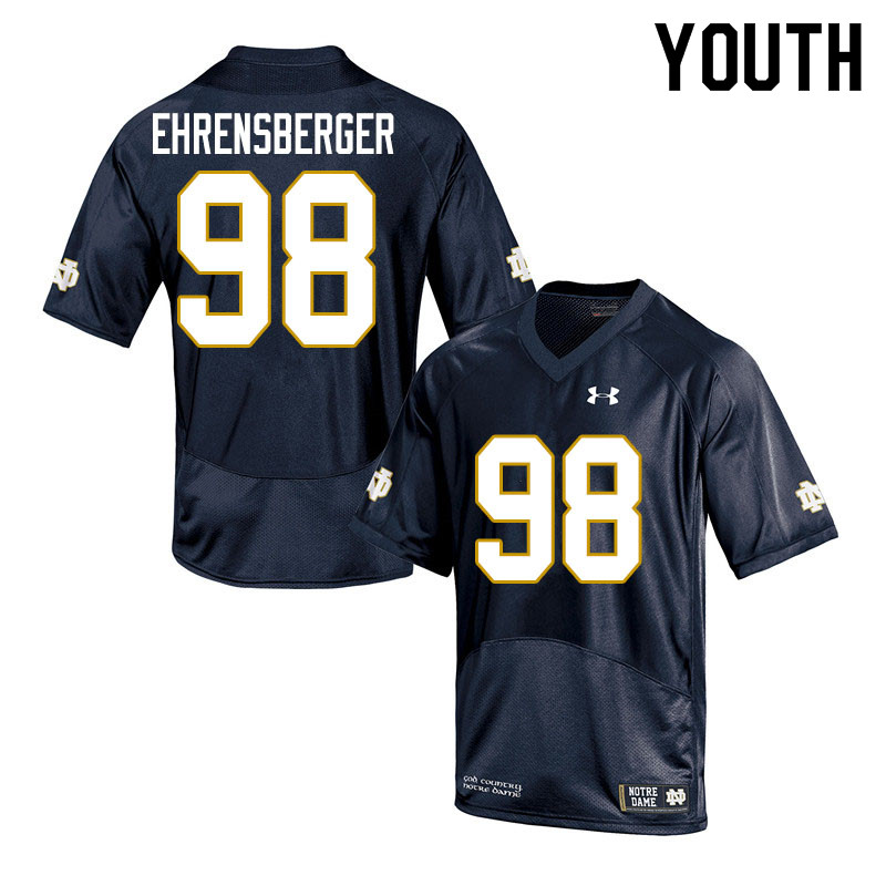 Youth #98 Alexander Ehrensberger Notre Dame Fighting Irish College Football Jerseys Sale-Navy