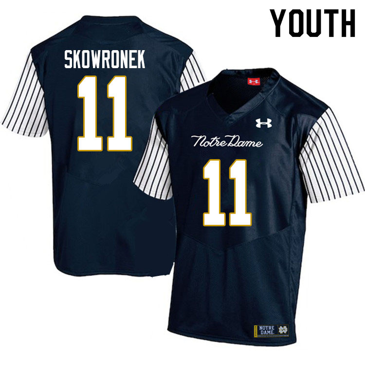 Youth #11 Ben Skowronek Notre Dame Fighting Irish College Football Jerseys Sale-Alternate