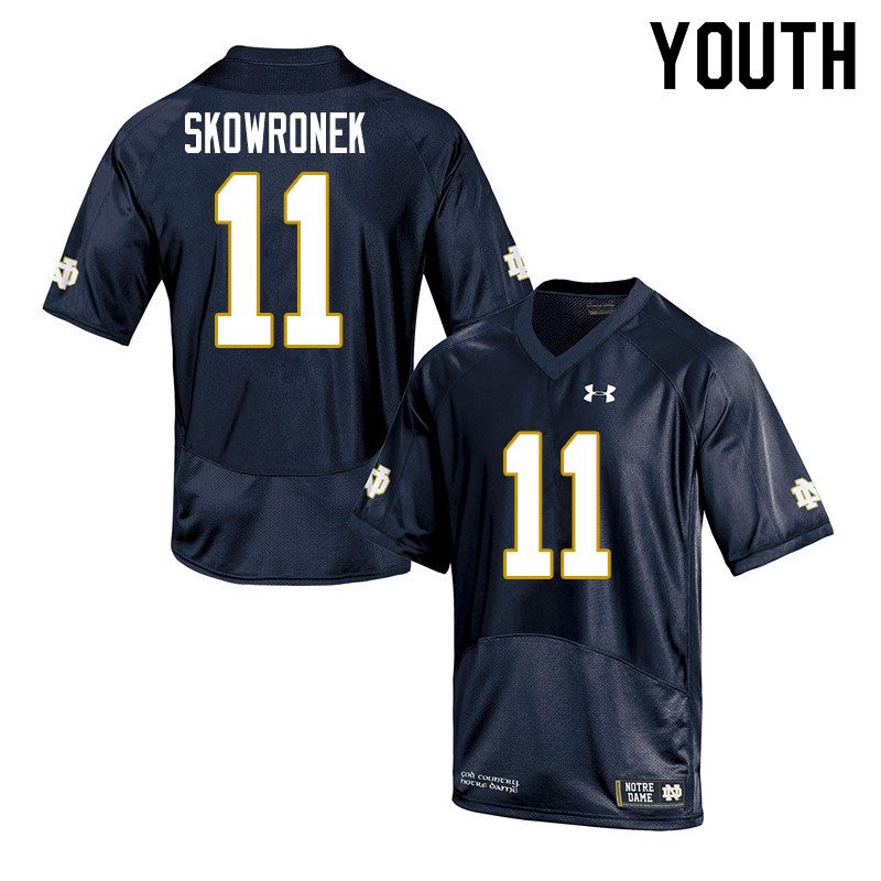 Youth #11 Ben Skowronek Notre Dame Fighting Irish College Football Jerseys Sale-Navy