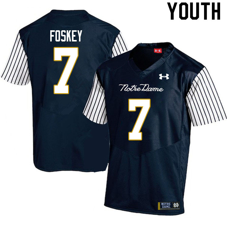 Youth #7 Isaiah Foskey Notre Dame Fighting Irish College Football Jerseys Sale-Alternate