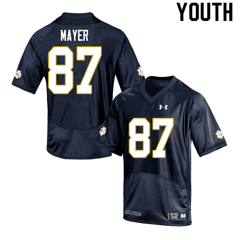 Youth #87 Michael Mayer Notre Dame Fighting Irish College Football Jerseys Sale-Navy