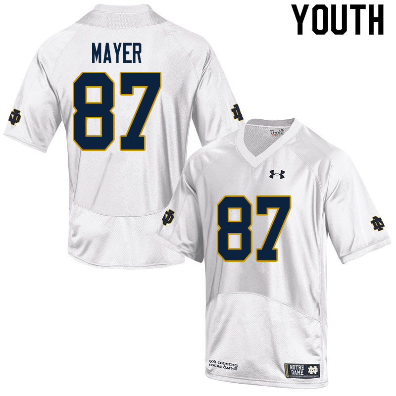 Youth #87 Michael Mayer Notre Dame Fighting Irish College Football Jerseys Sale-White