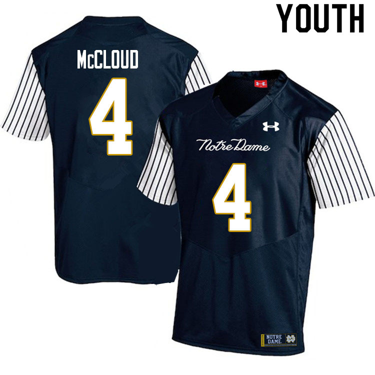 Youth #4 Nick McCloud Notre Dame Fighting Irish College Football Jerseys Sale-Alternate