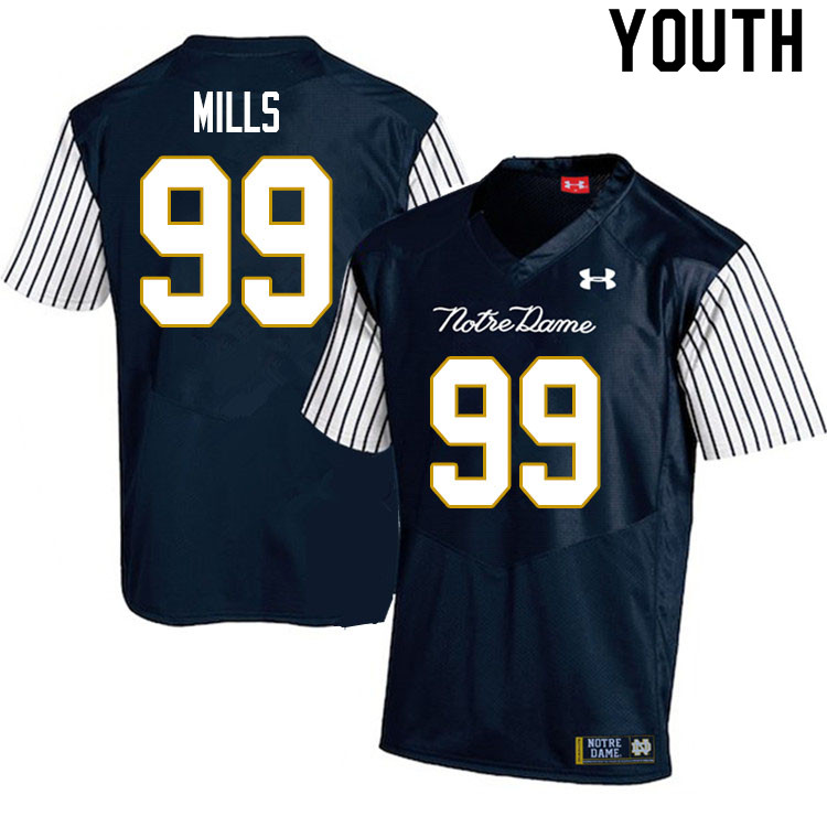 Youth #99 Rylie Mills Notre Dame Fighting Irish College Football Jerseys Sale-Alternate