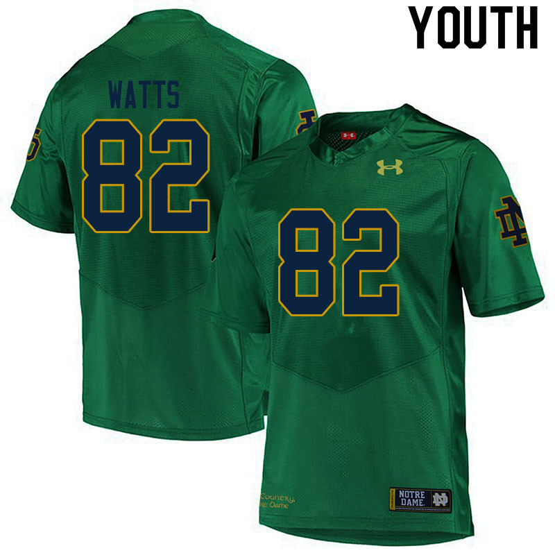 Youth #82 Xavier Watts Notre Dame Fighting Irish College Football Jerseys Sale-Green