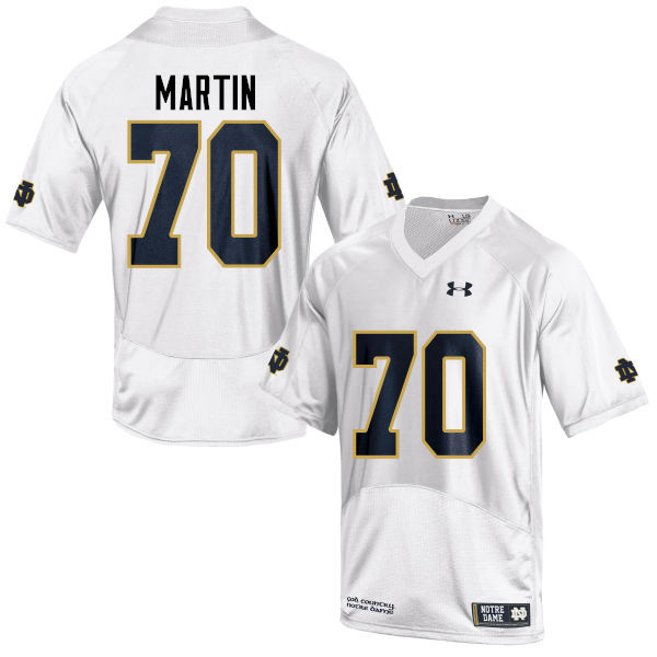 Men #70 Zack Martin Notre Dame Fighting Irish College Football Jerseys-White